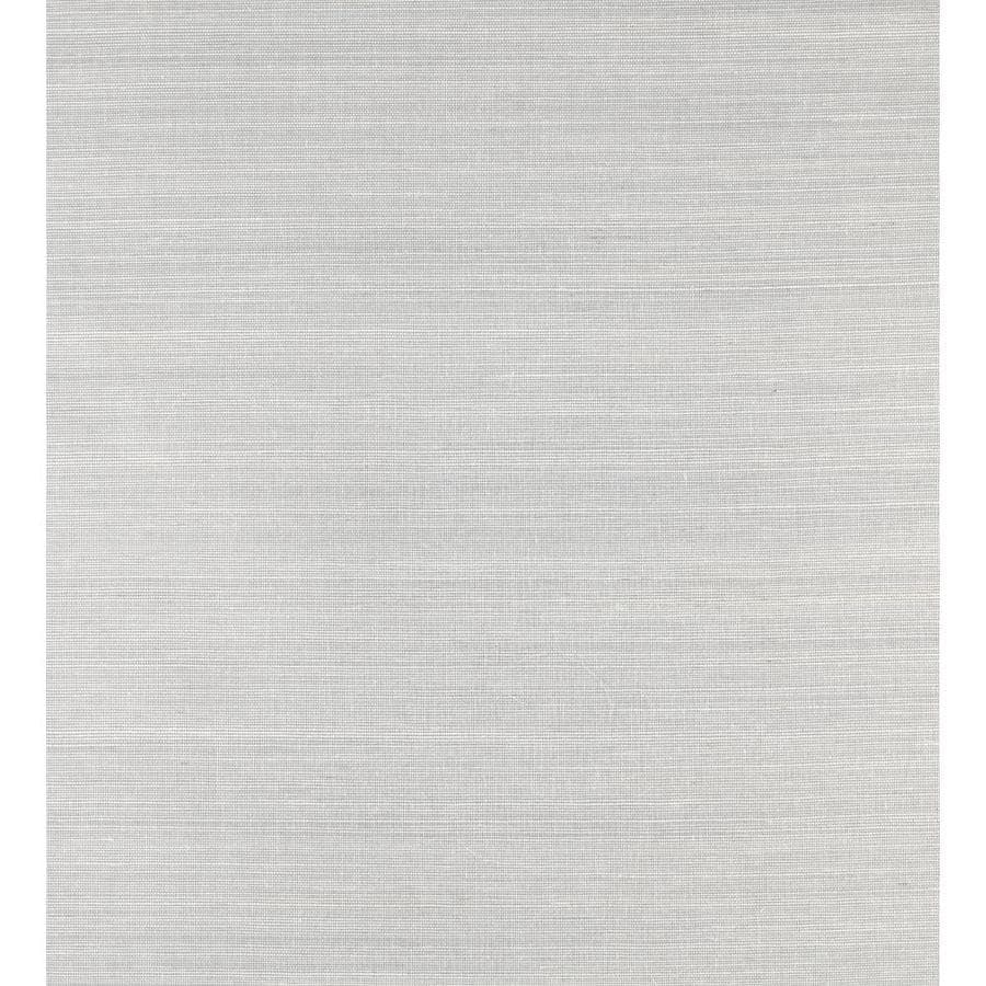 York Wallcoverings Shimmering Details Gray Paper Grasscloth Wallpaper