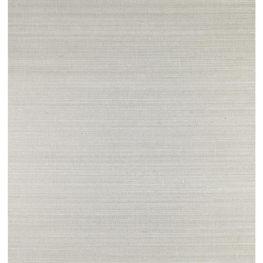 York Wallcoverings Silver, White Paper Grasscloth Wallpaper