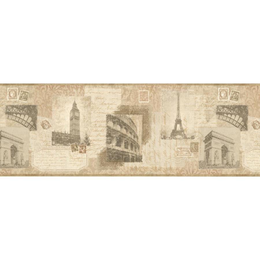 York Wallcoverings 9-in Brown/Tan Prepasted Wallpaper Border