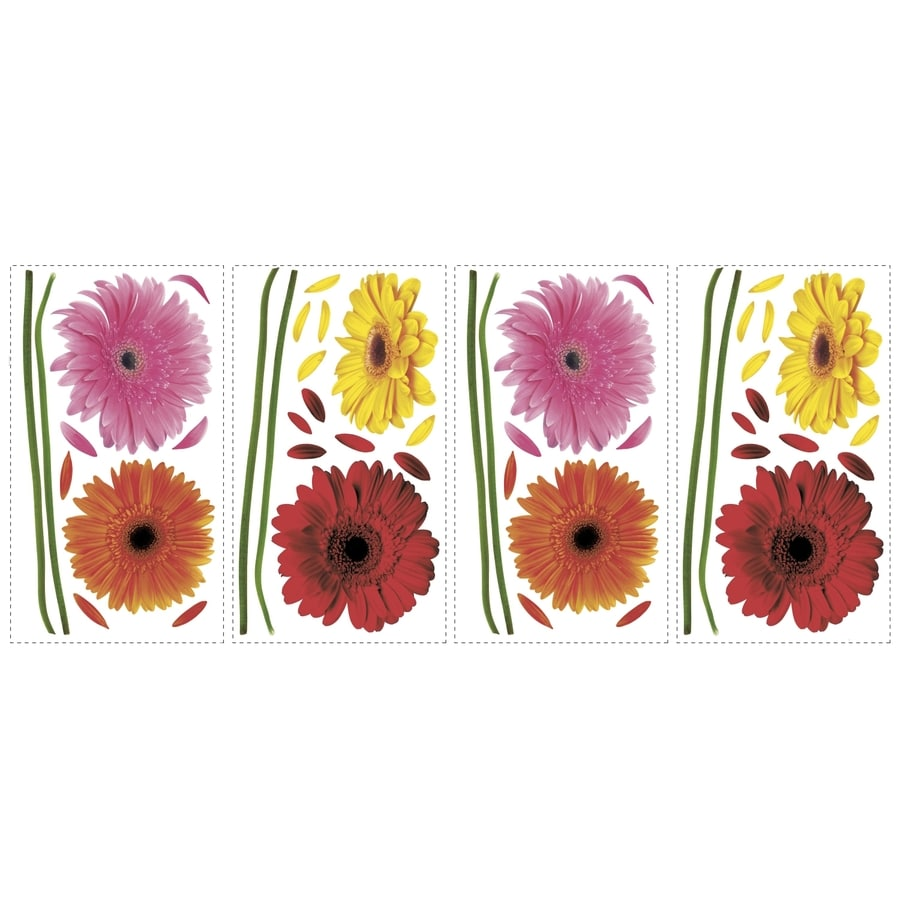 RoomMates 48-Pack Peel & Stick Floral Wall Stickers