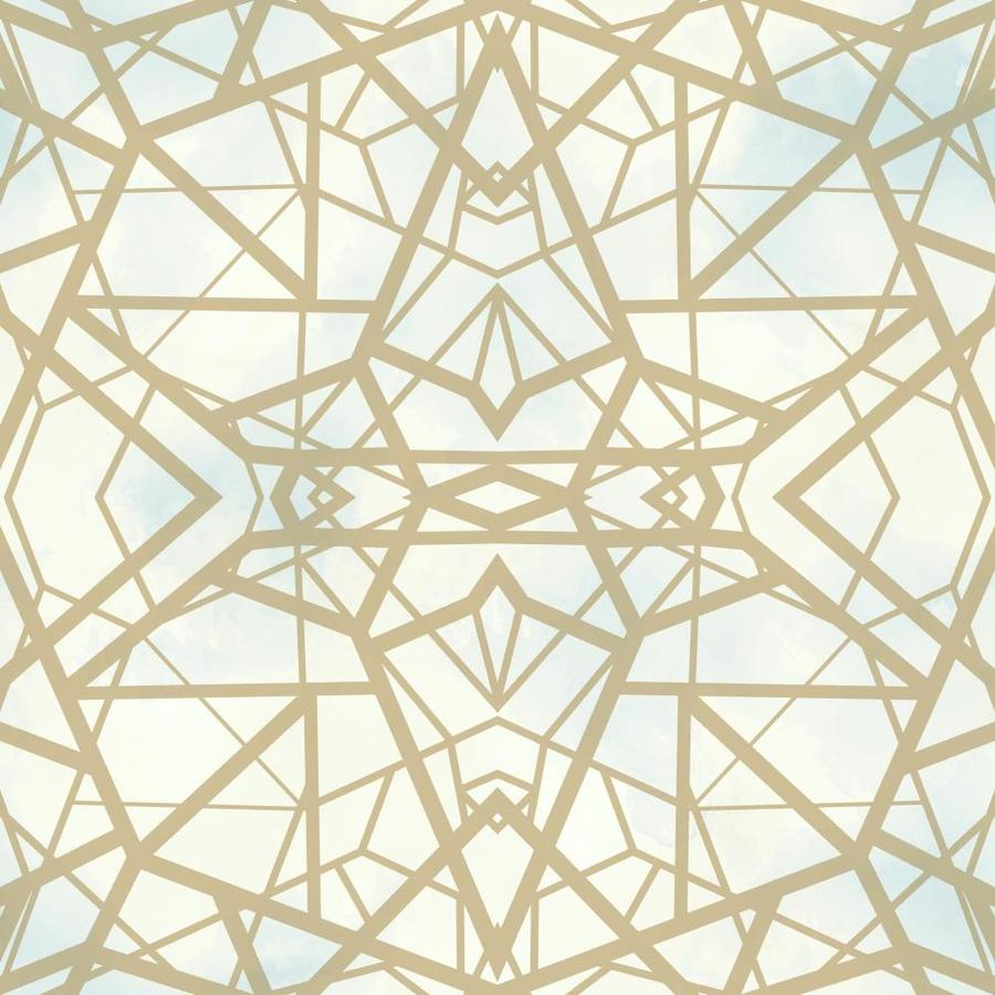 Roommates 28 2 Sq Ft Shatter Geometric Gold L And Stick Wallpaper