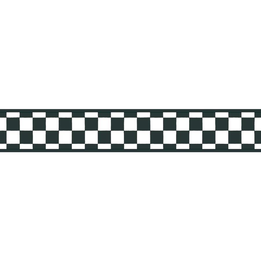 Inspired By Color 3.375-in Black/White Prepasted Wallpaper Border