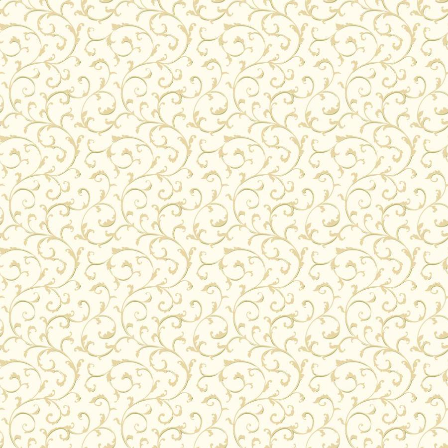 Inspired By Color Green Book Green and Cream Paper Textured Scroll Wallpaper