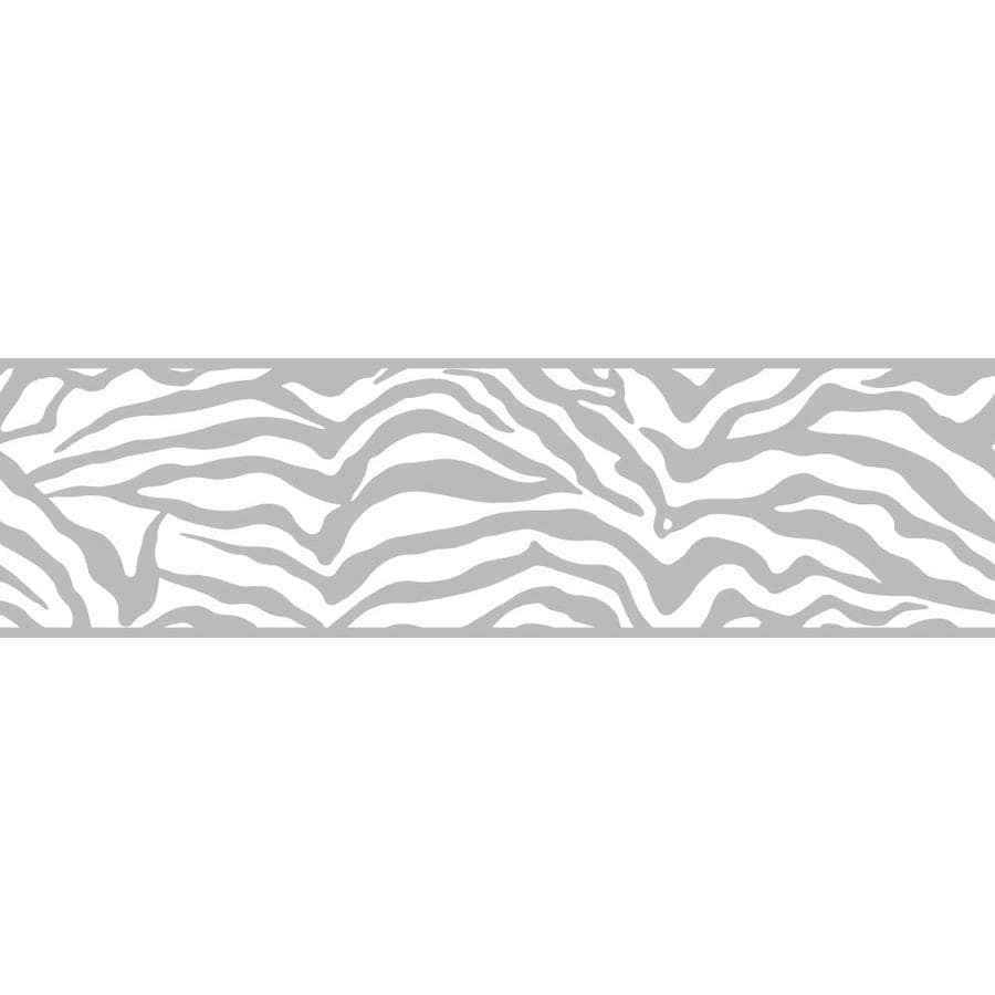Inspired By Color 6.75-in Gray/White Prepasted Wallpaper Border