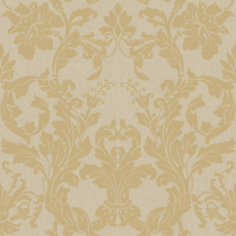 Inspired By Color Metallics Book Gold and Silver Paper Damask Wallpaper