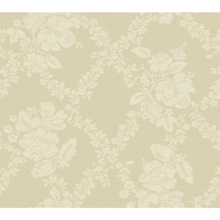 Inspired By Color Red Book Ivory and Almond Paper Floral Wallpaper