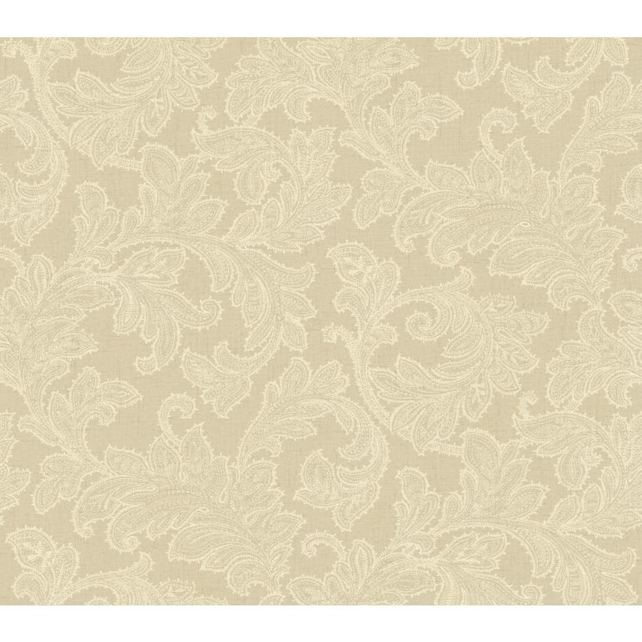 York Wallcoverings Burlap and Cream Strippable Prepasted Classic Wallpaper - Shop York Wallcoverings Burlap And Cream Strippable Prepasted