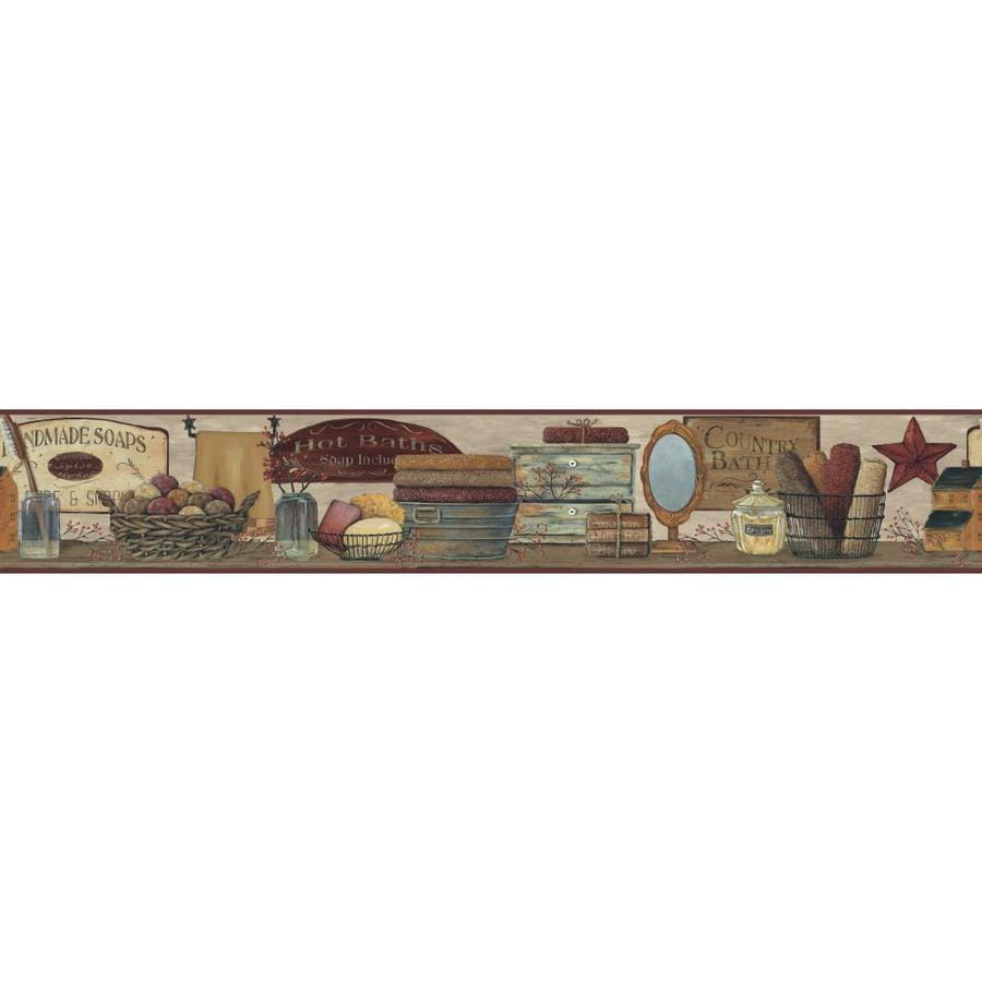 Inspired By Color 6-in Brown Prepasted Wallpaper Border