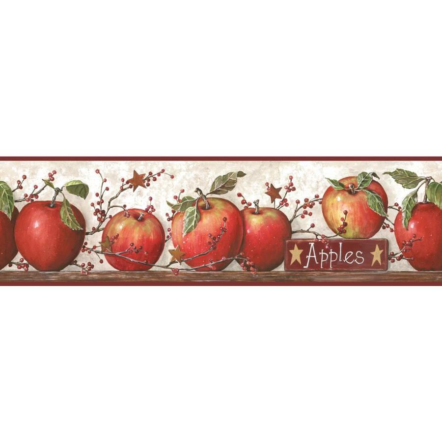 Inspired By Color 6-in Red Prepasted Wallpaper Border