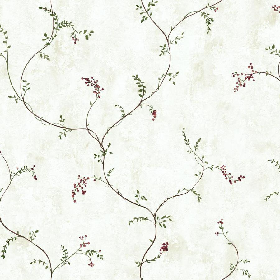 Inspired By Color Country Book White Paper Ivy/Vines Wallpaper