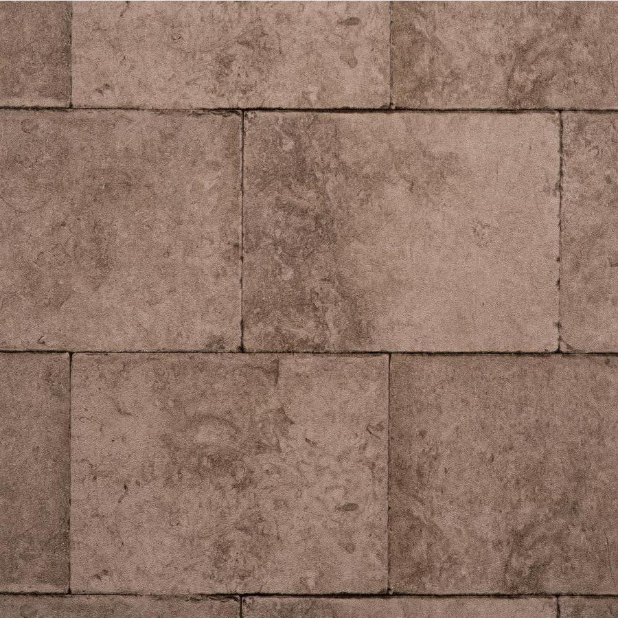 York Wallcoverings Modern Rustic Brown, Stone and Brick Vinyl Textured Stone Wallpaper