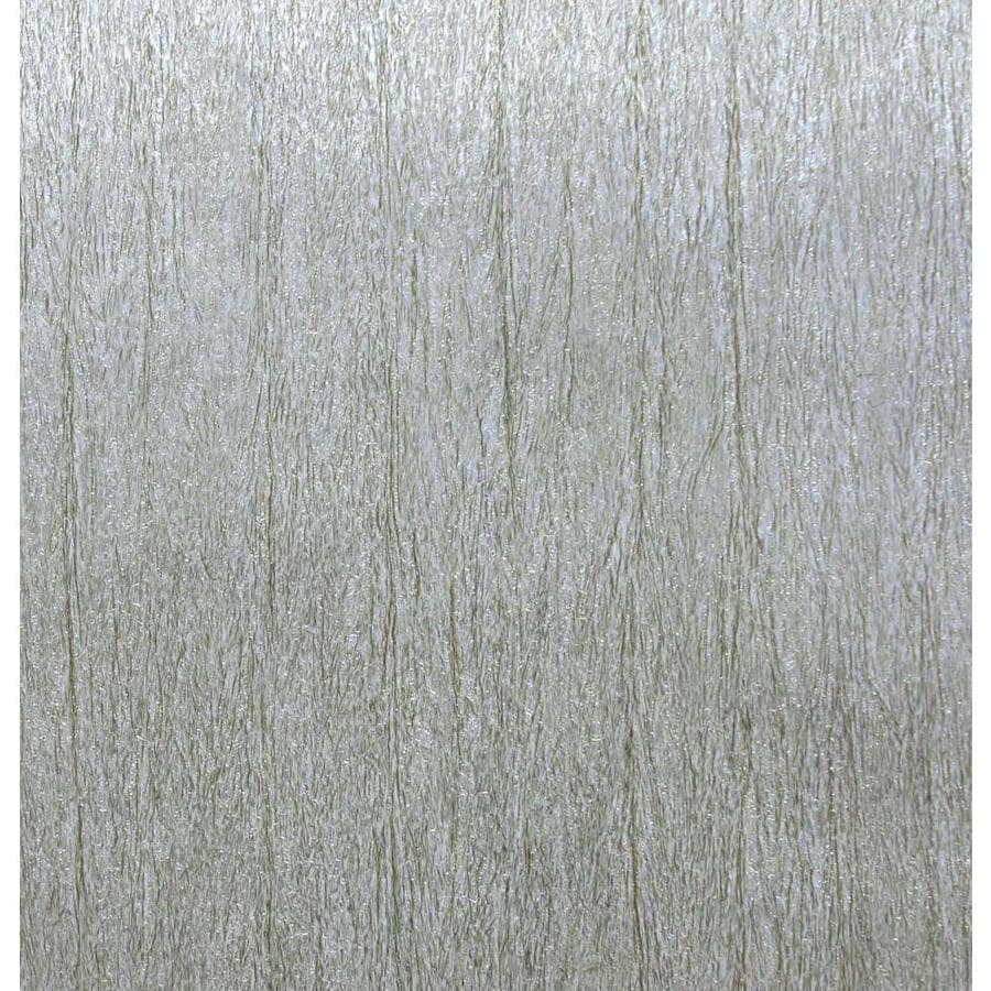 York Wallcoverings Enchantment Silver Vinyl Textured Brushstroke Wallpaper