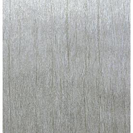 York Wallcoverings Enchantment 5709 Sq Ft Silver Vinyl Textured Brushstroke Wallpaper