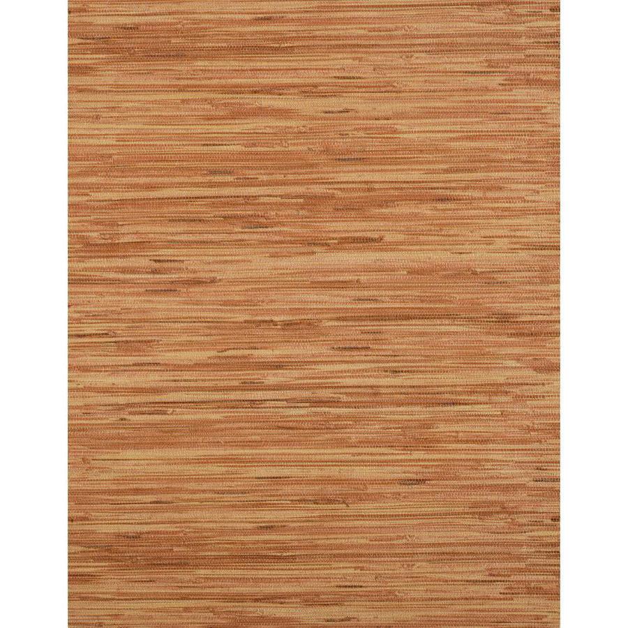 York Wallcoverings Modern Rustic Burgundy Vinyl Textured Grasscloth Wallpaper