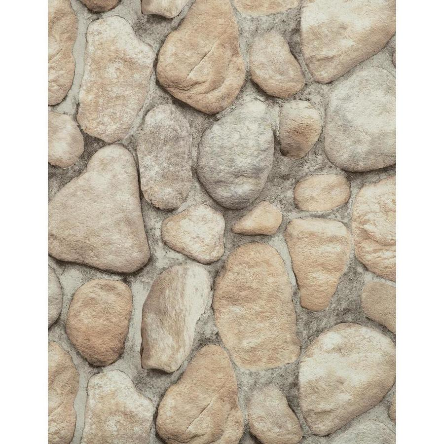 York Wallcoverings Modern Rustic Dark Gray, Rocks and Stone Vinyl Textured Stone Wallpaper
