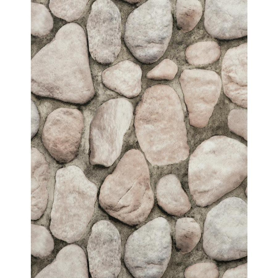 York Wallcoverings Brown, Gray, Black, Off-White, Rock and Stone Vinyl Textured Stone Wallpaper