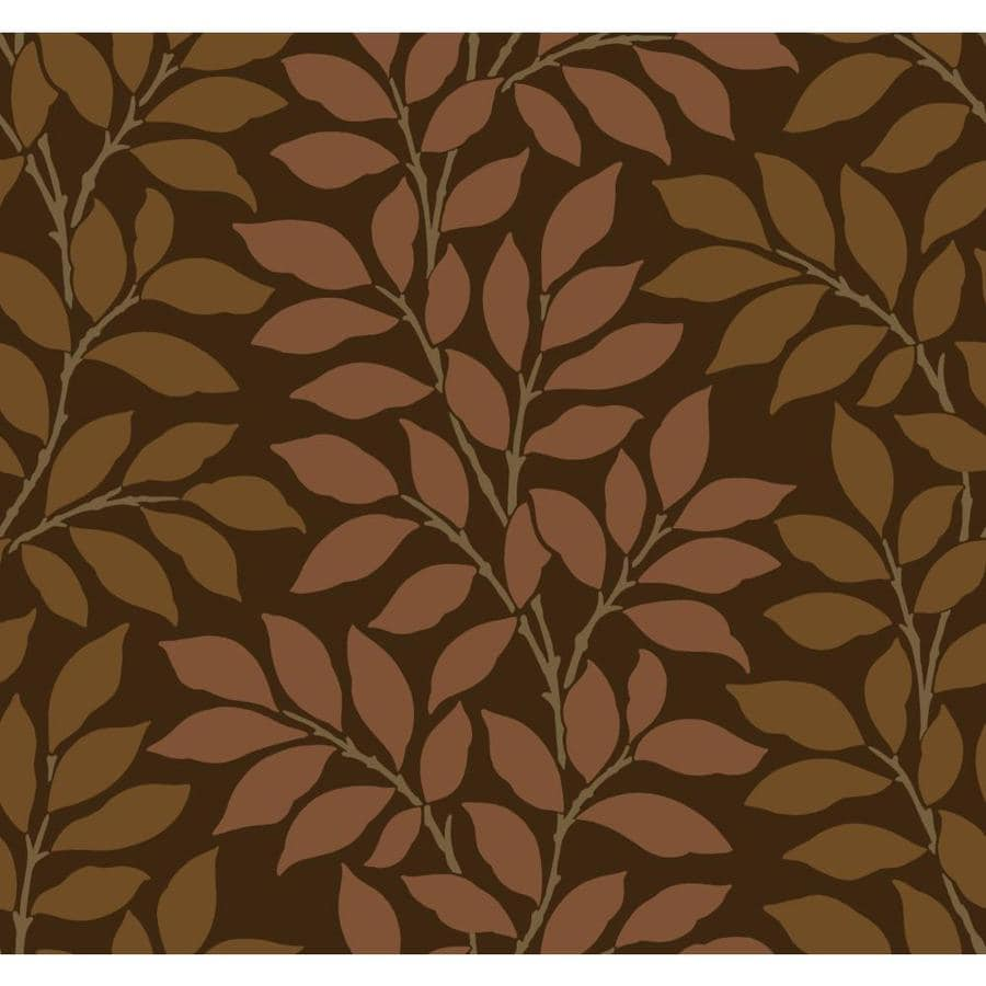 Inspired By Color Metallics Book Brown and Tan Paper Ivy/Vines Wallpaper