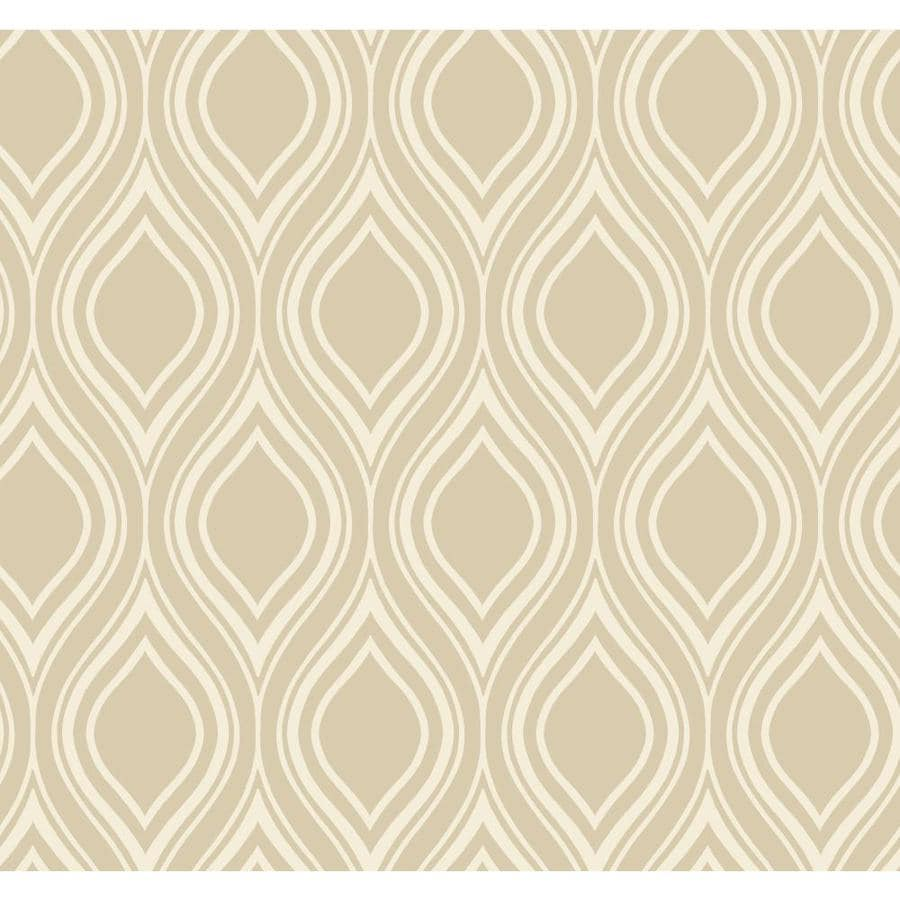 York Wallcoverings Beige Book Beige Paper Textured Geometric Wallpaper