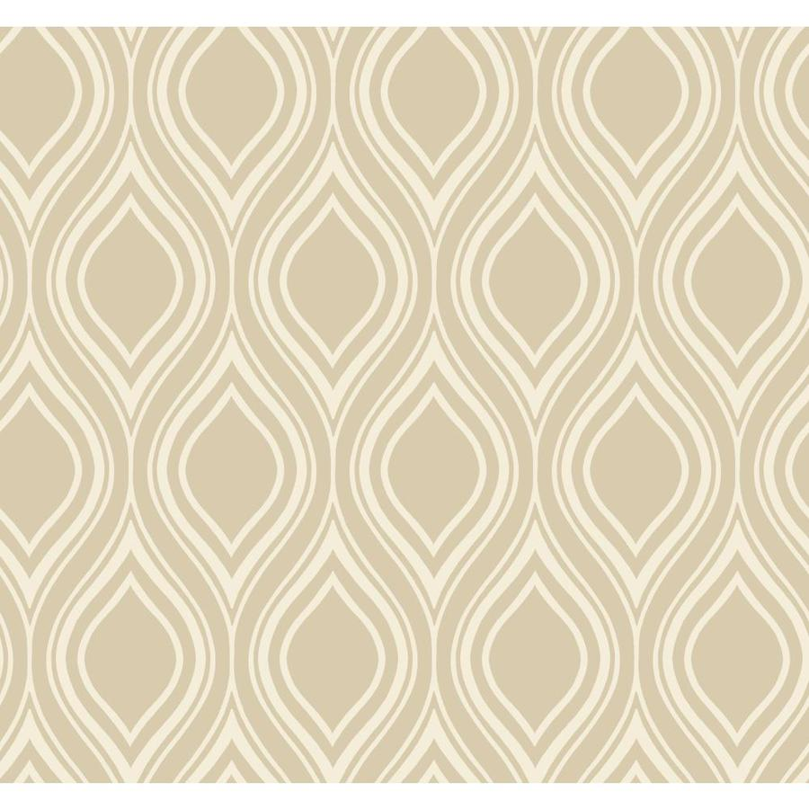 York Wallcoverings Beige Paper Geometric Wallpaper