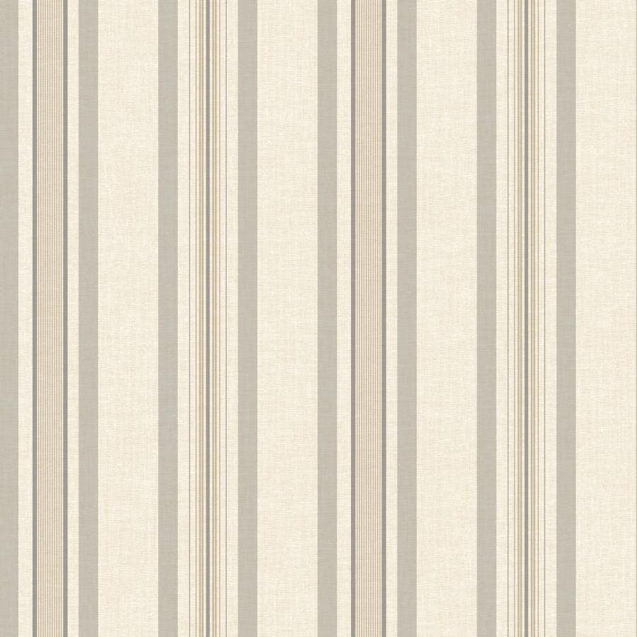 York Wallcoverings Ashford Stripes Cream, Beige Paper Stripes Wallpaper