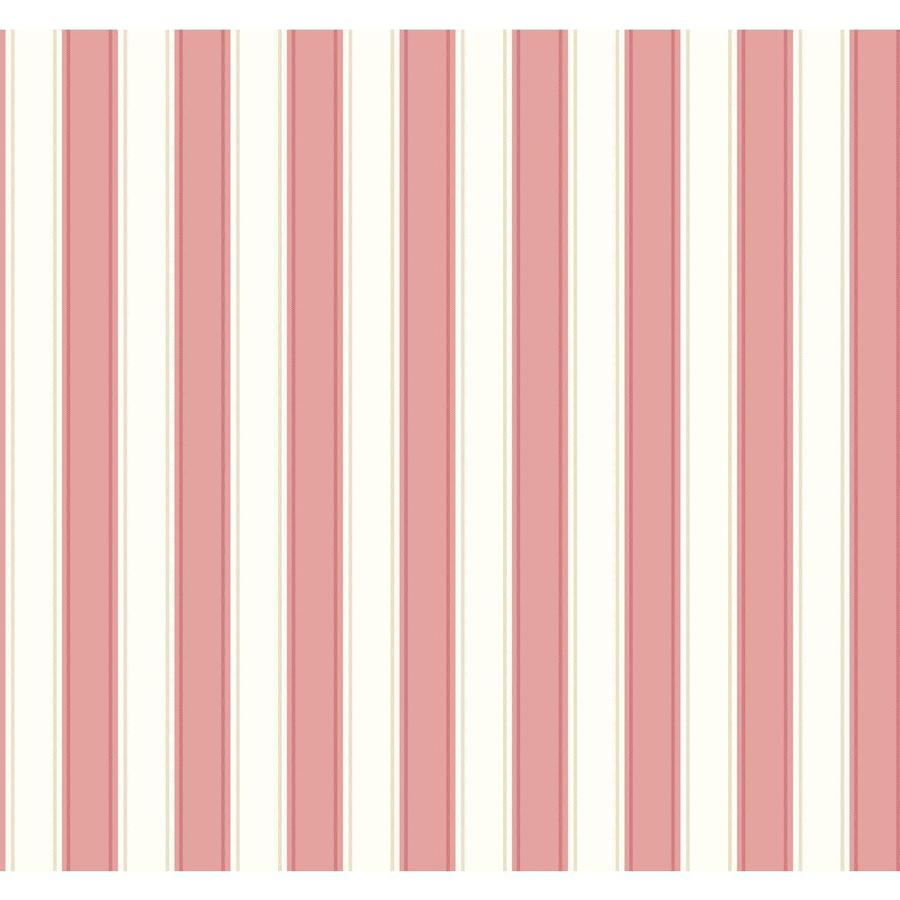 Inspired By Color Ashford Stripes Pink and White Paper Stripes Wallpaper
