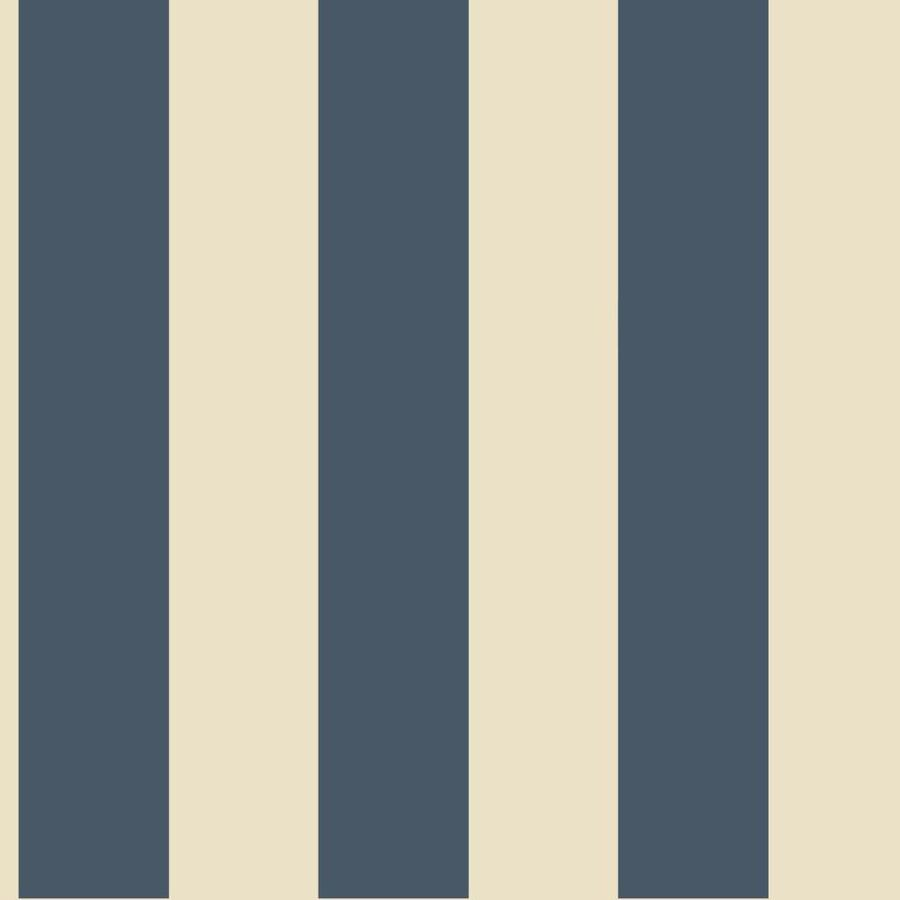 Inspired By Color Blue and Cream Paper Stripes Wallpaper