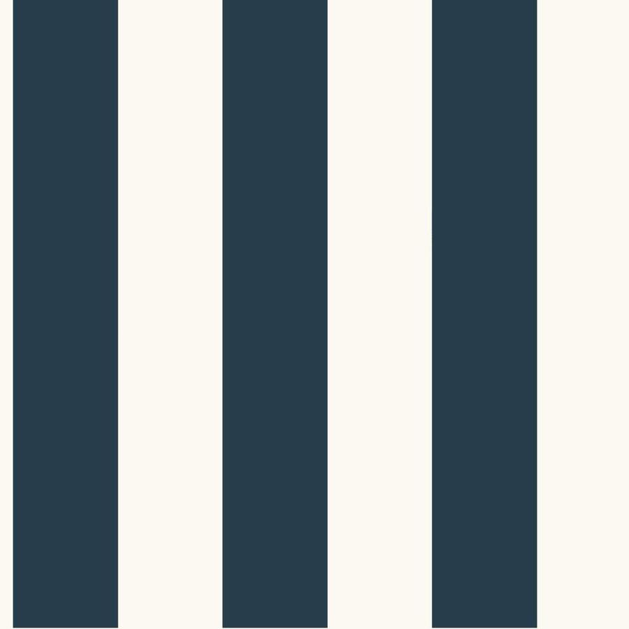 Inspired By Color Ashford Stripes Blue and White Paper Stripes Wallpaper