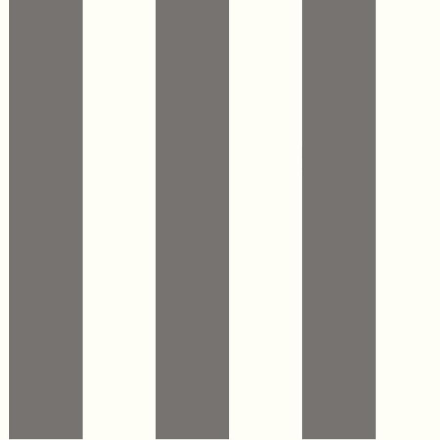 York Wallcoverings Tropics Gray, Cream Paper Stripes Wallpaper