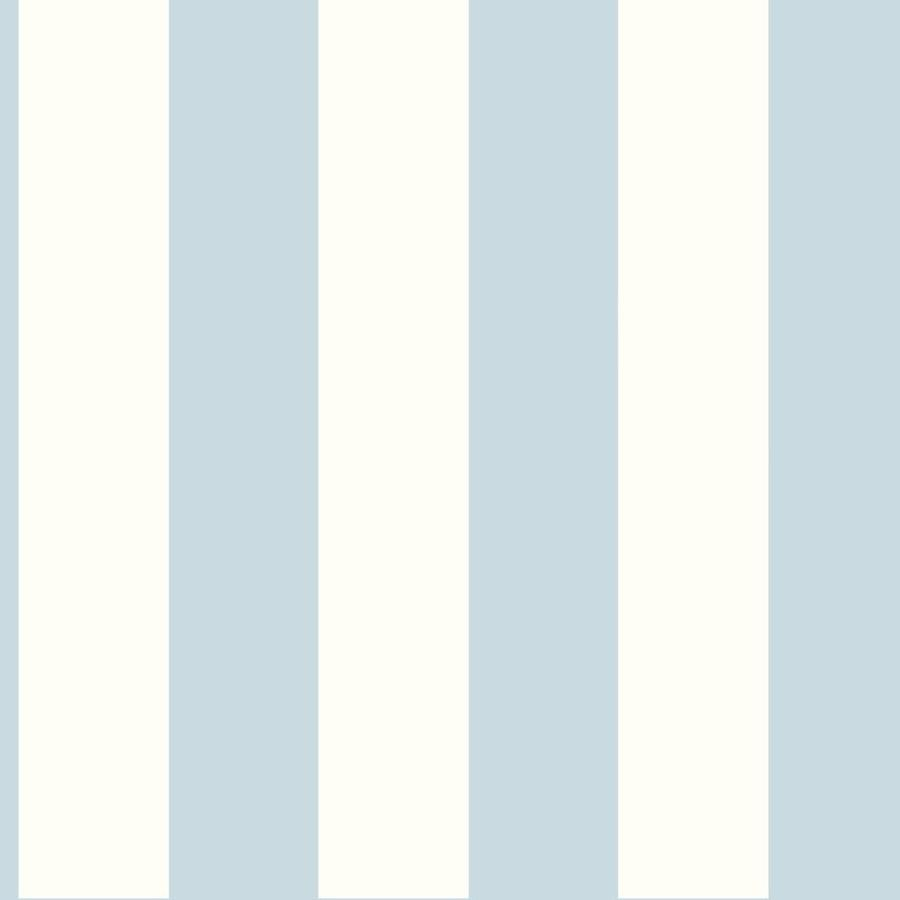 Inspired By Color Tropics Blue and White Paper Stripes Wallpaper