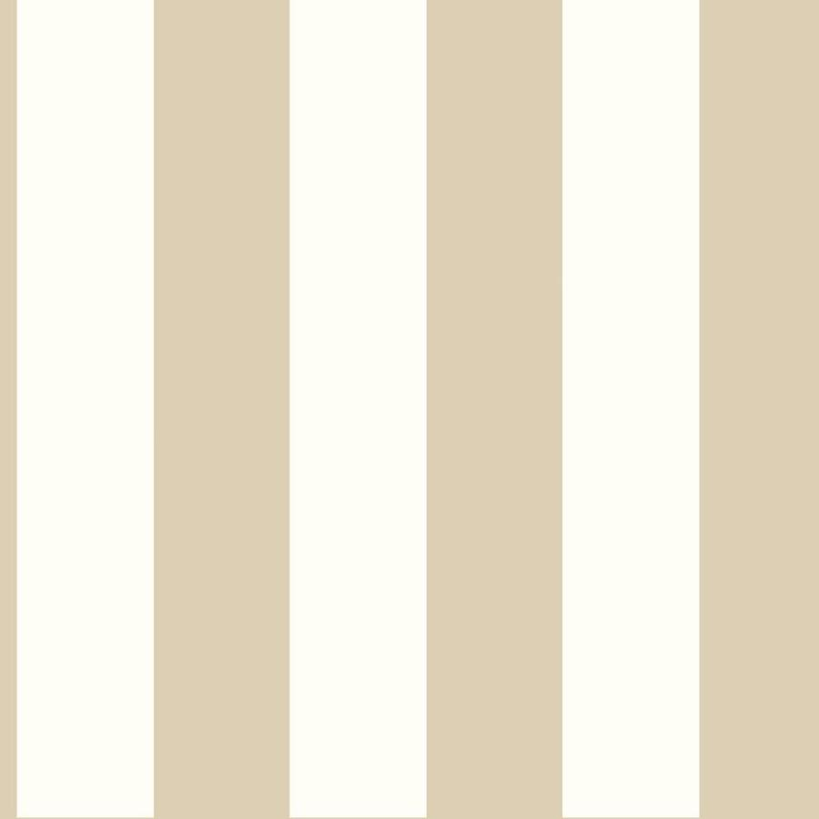 York Wallcoverings Tropics Beige and White Paper Stripes Wallpaper