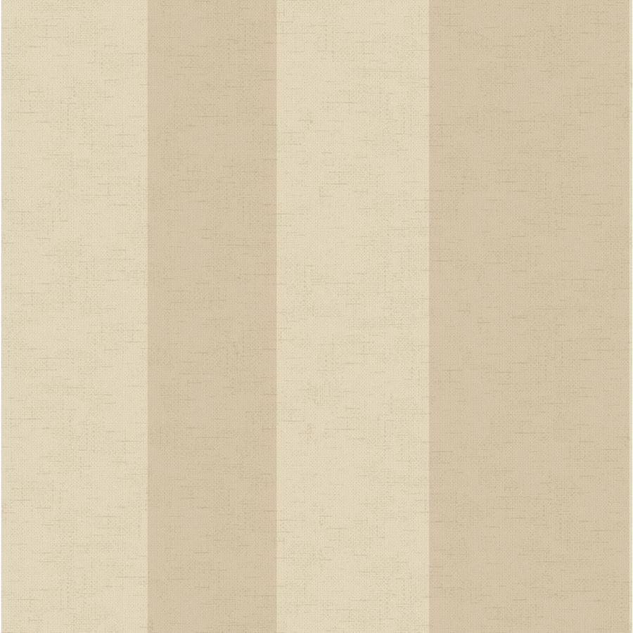 York Wallcoverings Ashford Stripes Almond, Beige Paper Stripes Wallpaper