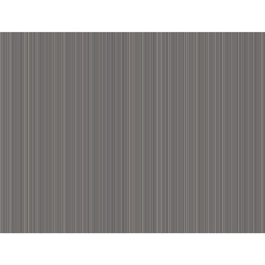 York Wallcoverings Ashford Stripes Gray Paper Stripes Wallpaper