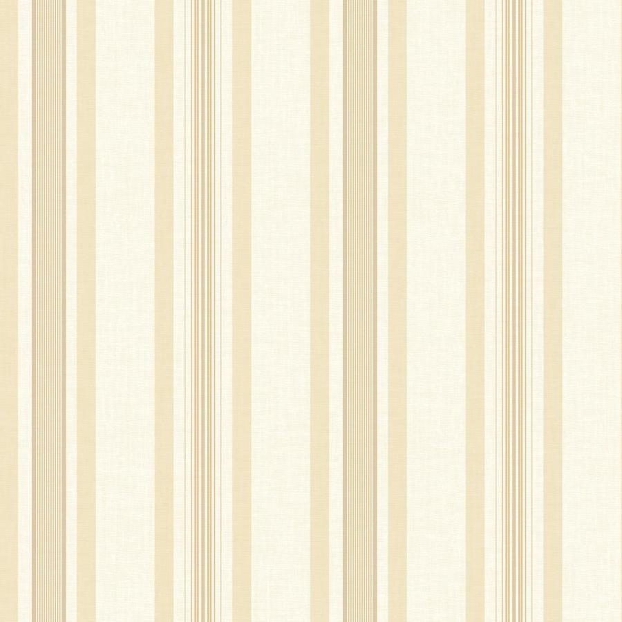 Inspired By Color Ashford Stripes Cream, Beige Paper Stripes Wallpaper