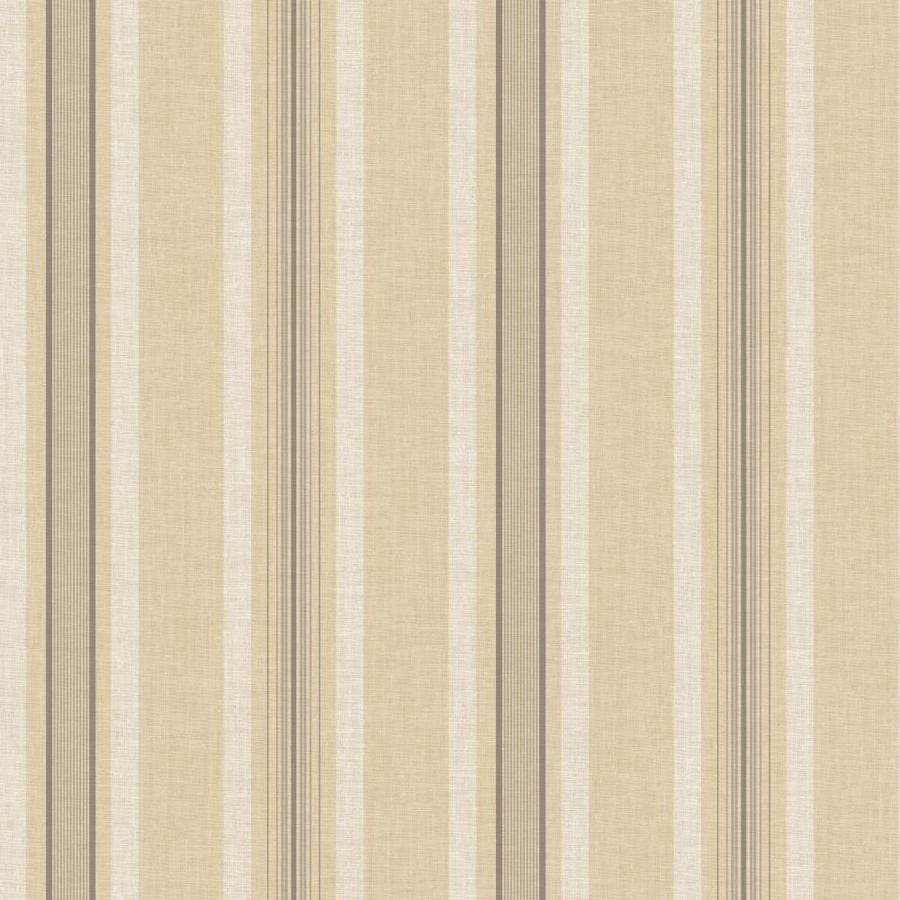 York Wallcoverings Almond, Beige Paper Stripes Wallpaper