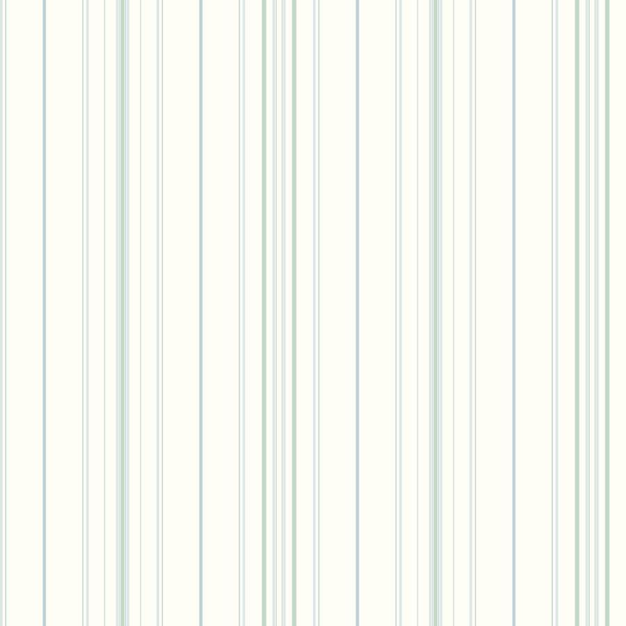 Inspired By Color Ashford Stripes Aqua Paper Stripes Wallpaper