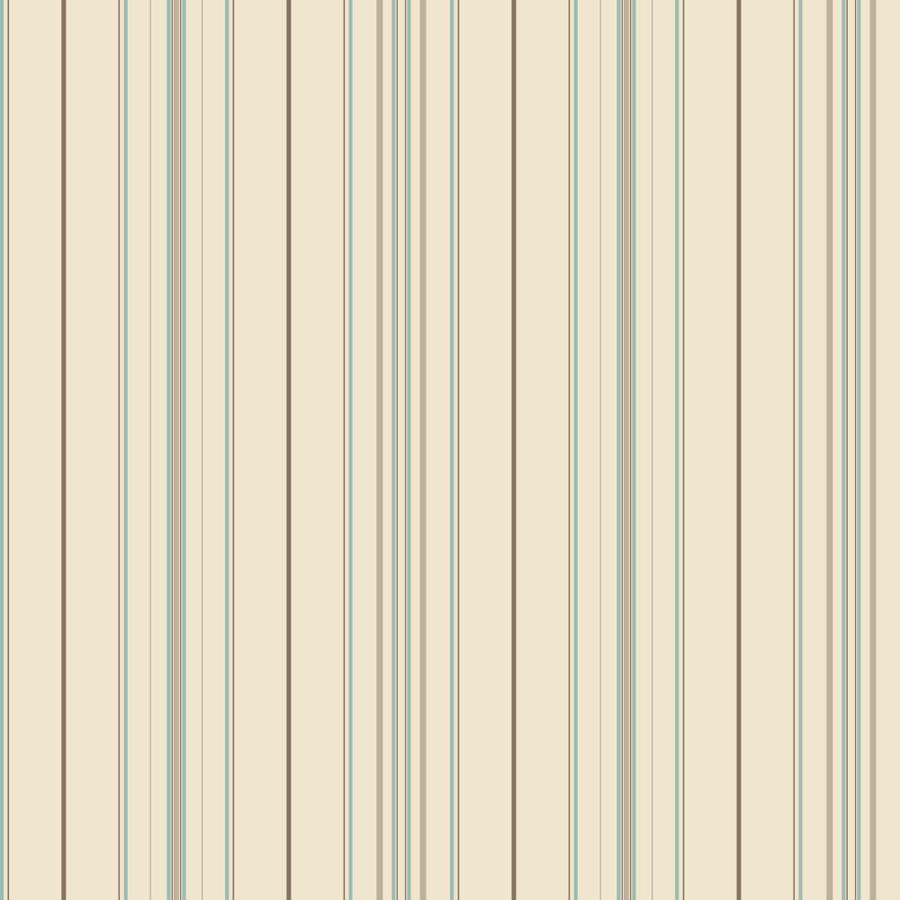 Inspired By Color Ashford Stripes Cream and Blue Paper Stripes Wallpaper