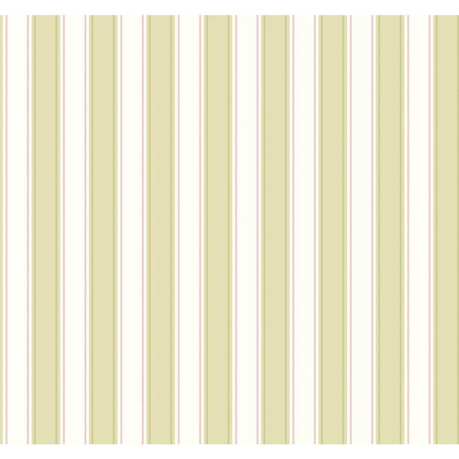 Inspired By Color Ashford Stripes Green and White Paper Stripes Wallpaper