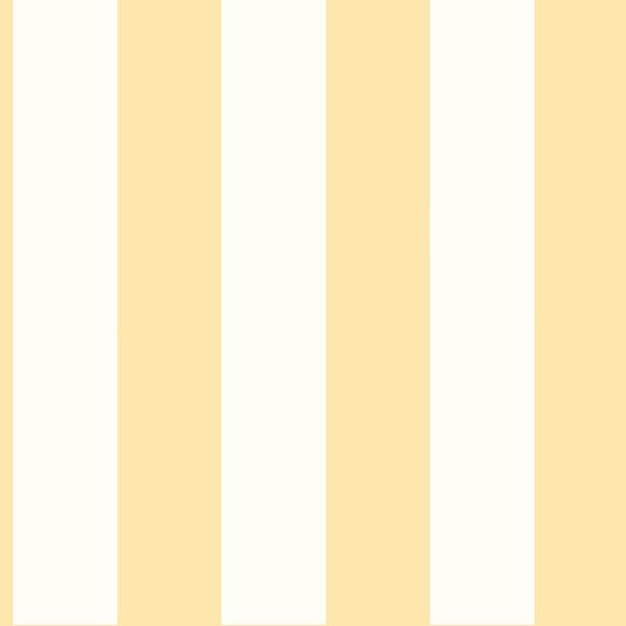 Inspired By Color Tropics Yellow and White Paper Stripes Wallpaper