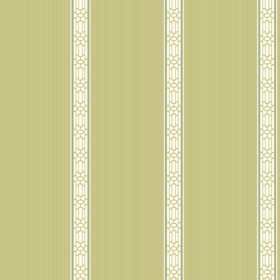 Inspired By Color Ashford Stripes Green and White Paper Textured Stripes Wallpaper