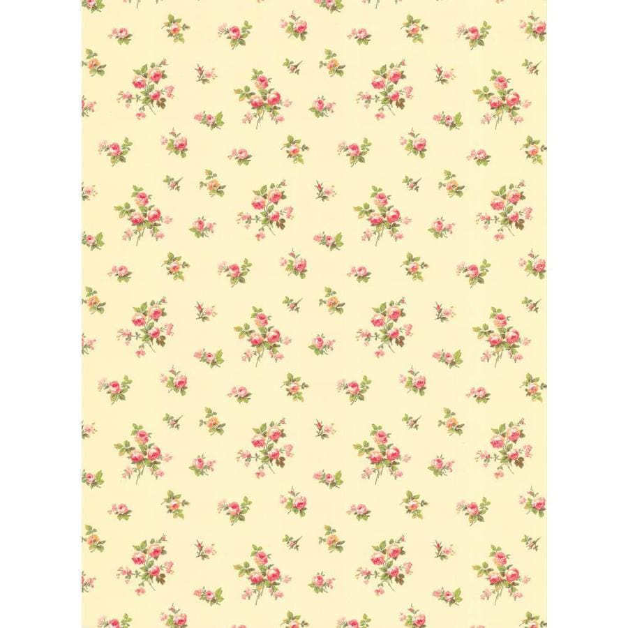 Inspired By Color Pink and Ivory Paper Floral Wallpaper