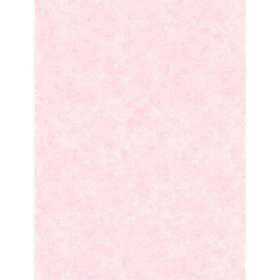 Inspired By Color Peek-A-Boo Pink and White Paper Polka Dot Wallpaper