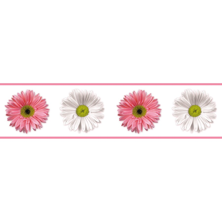 RoomMates Flower Power Peel and Stick Wallpaper Border