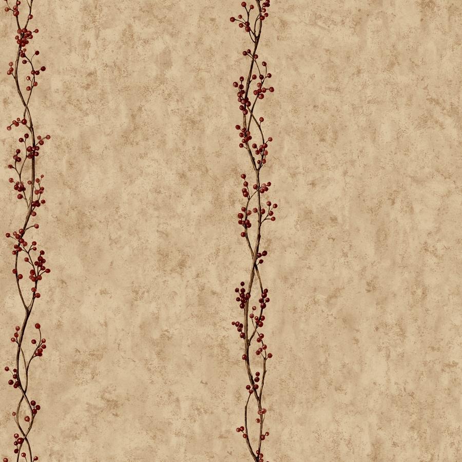 York Wallcoverings Country Book Khaki Paper Ivy/Vines Wallpaper
