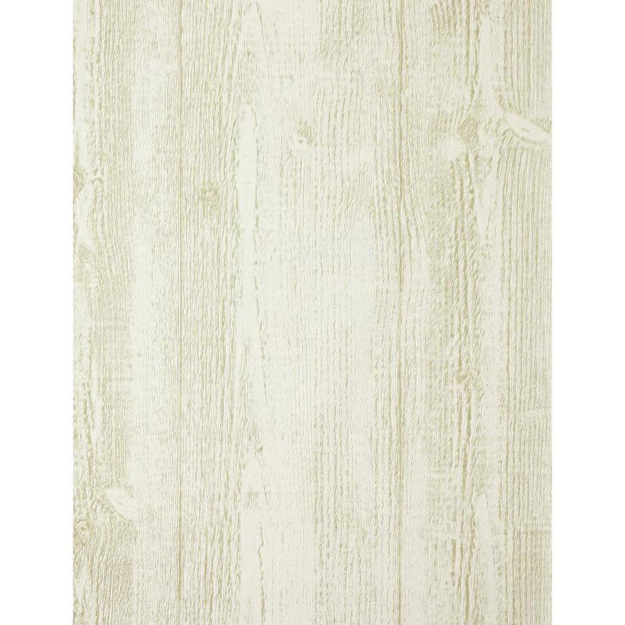 York Wallcoverings Hearts and Crafts Iii White Vinyl Textured Wood Wallpaper