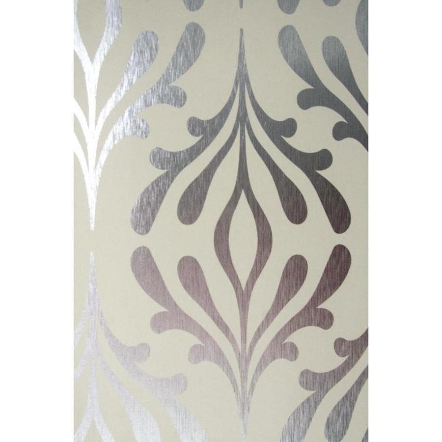 York Wallcoverings 56-sq ft Bisque Paper Geometric Wallpaper