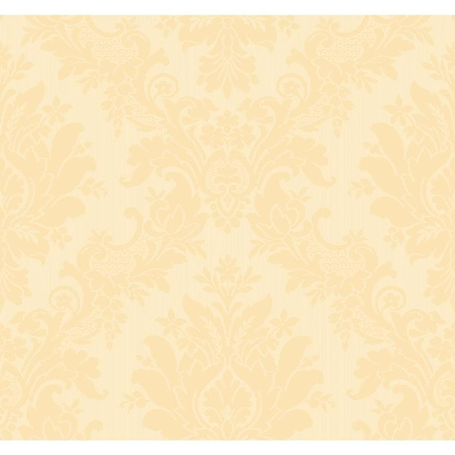 Inspired By Color Orange and Yellow Book Peach Paper Textured Damask Wallpaper
