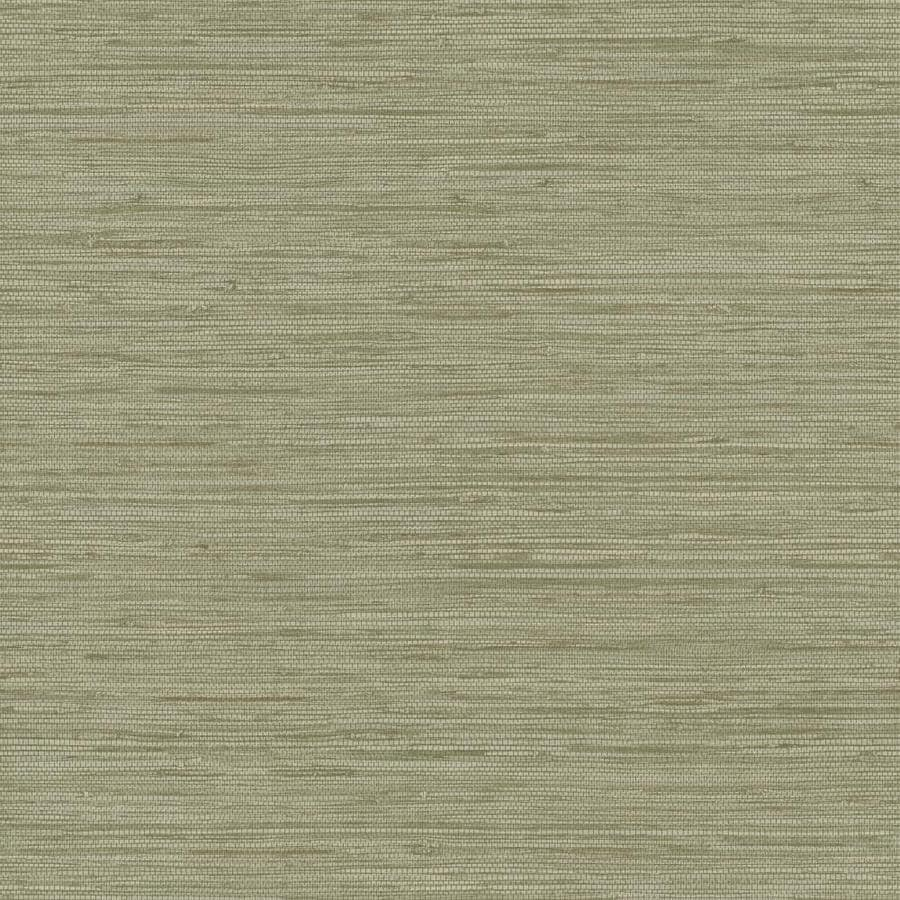 Inspired By Color Natural Elements Green and Brown Paper Textured Grasscloth Wallpaper