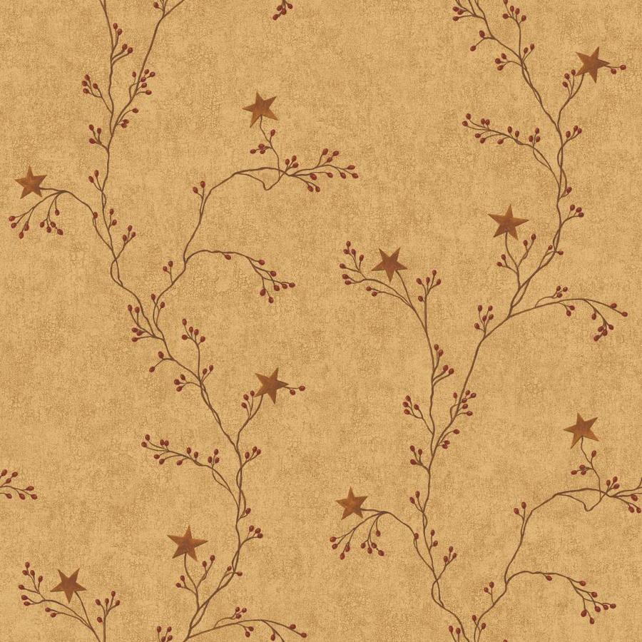 Inspired By Color Country Keepsakes Brown Paper Ivy/Vines Wallpaper