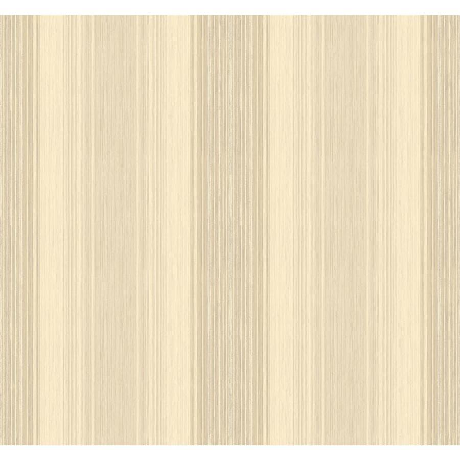 York Wallcoverings Cream, Beige Paper Stripes Wallpaper