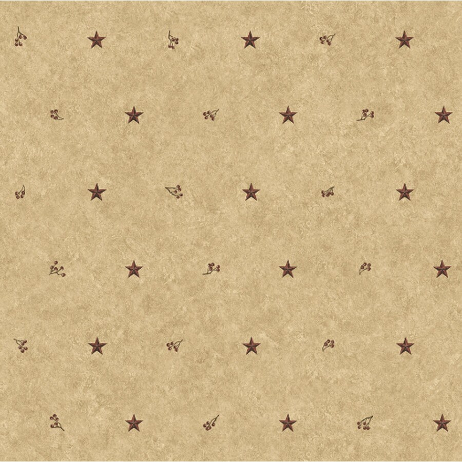 York Wallcoverings Khaki/Burgundy Paper Wallpaper